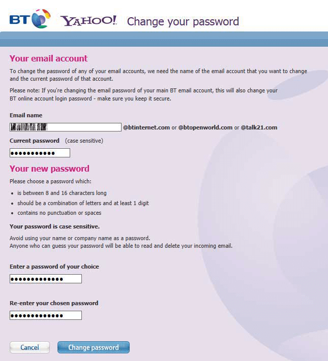 How To Change Your BT Email Password • Cumbria Computer Repairs