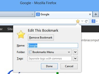 How To Bookmark A Website In Mozilla Firefox • Cumbria Computer Repairs
