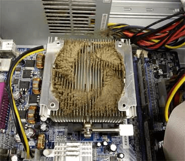 Before Heat Sink Cleaning